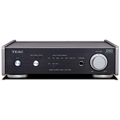 Teac UD-301-BK Dual Monaural Digital-to-Analog Converter with USB, Black by TEAC