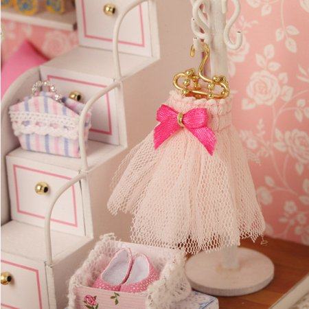 DIY Wooden Dollhouse Miniature Furniture Light 3D Model Doll House Room Pricess Girls Gift - image 3 of 6