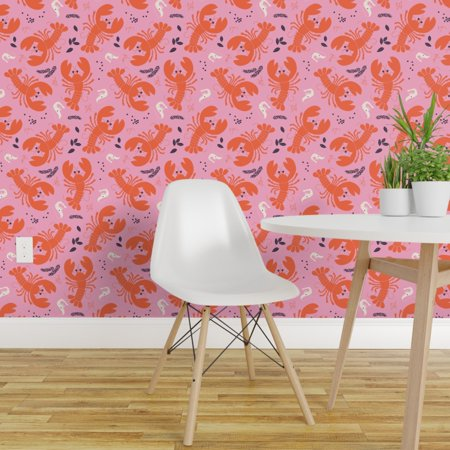 Peel and Stick Removable Wallpaper Lobster Shrimp Seafood Food Kitchen