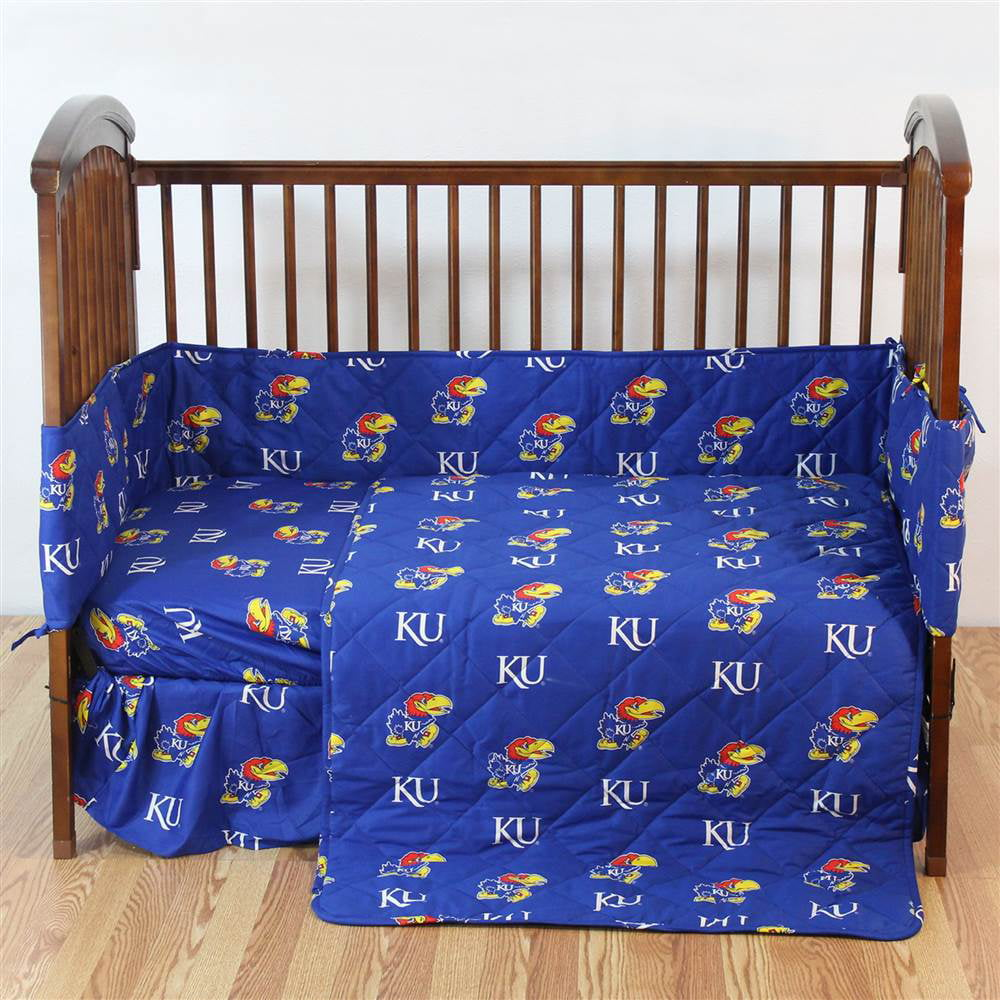 Kansas 5 Pc Baby Crib Logo Bedding Set by College Cover, LLC
