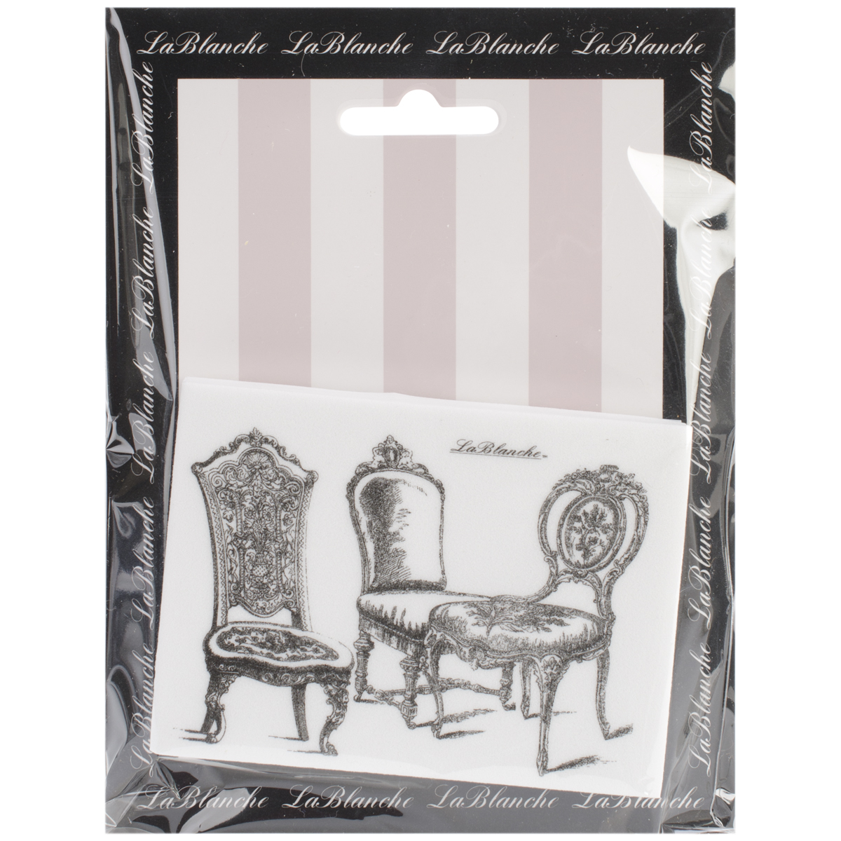 "LaBlanche Silicone Stamp 3.75""X2.75""-Chairs"