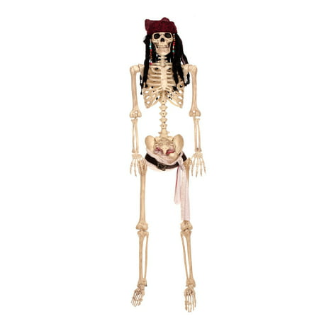 Pirates of the Caribbean - Full size Jack Sparrow Poseable Skeleton - Life Size Skeleton Halloween