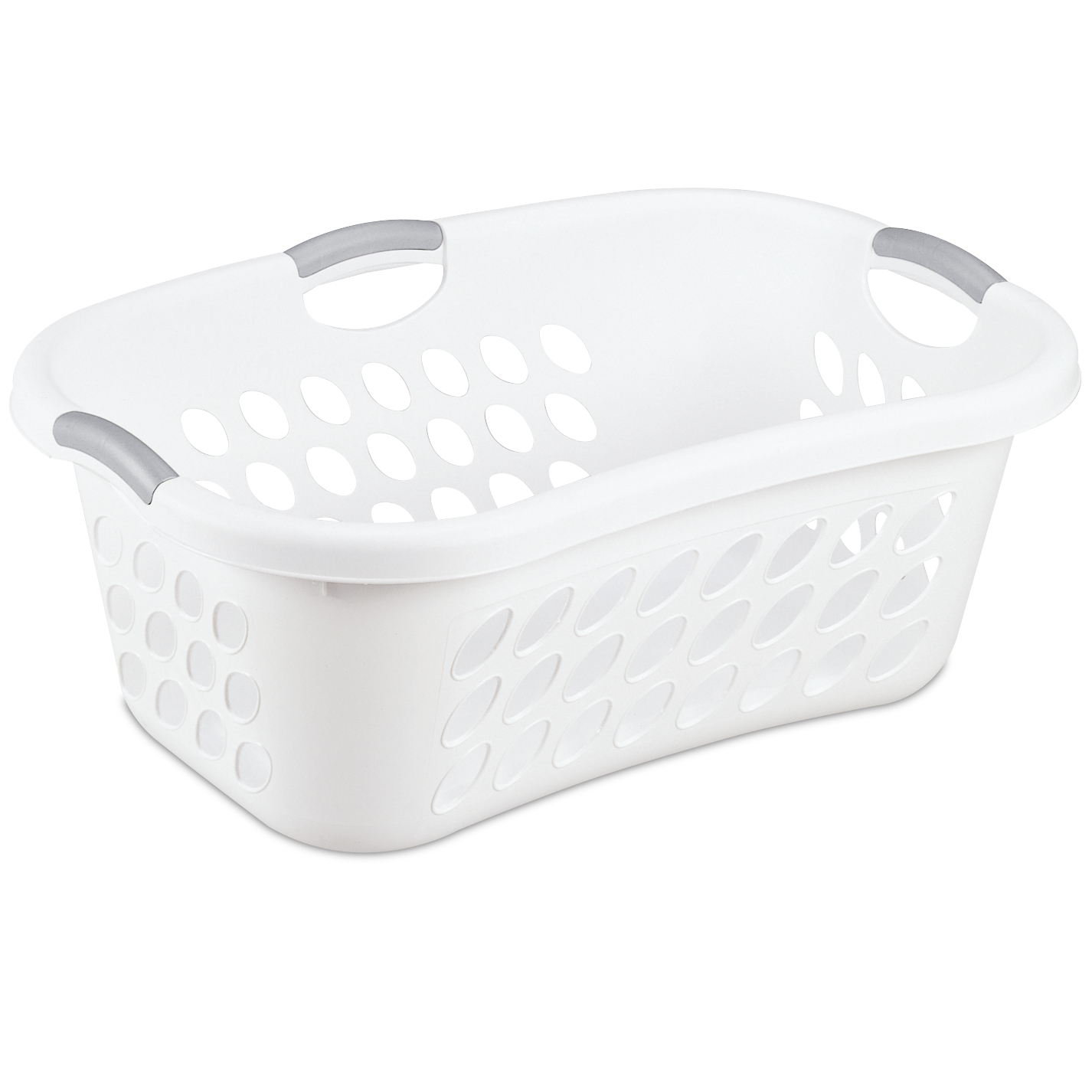 Sterilite 1.25 Bushel/44 L Ultra™ HipHold Laundry Basket, White