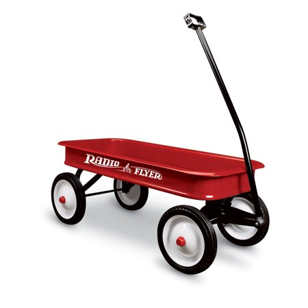 Radio Flyer, Original Classic Red Wagon, Steel Body, - Steel Stake Wagon