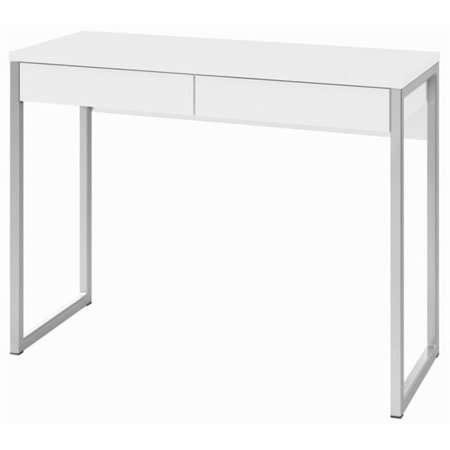 Pemberly Row 2 Drawer Computer Desk in White High Gloss ()