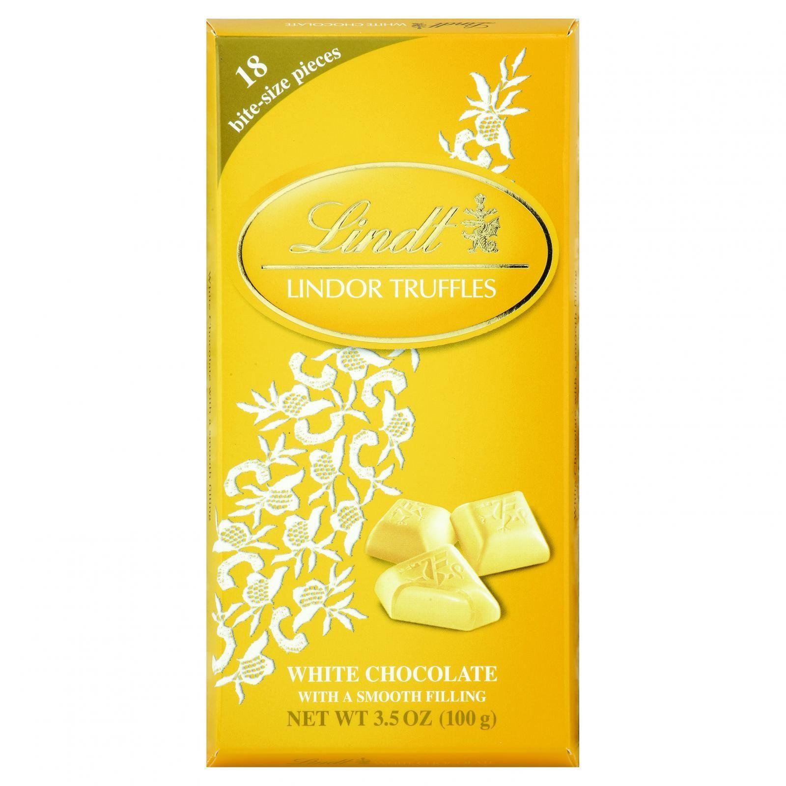 LINDT Chocolate Bites - Truffles - White Chocolate - 3.5 ...