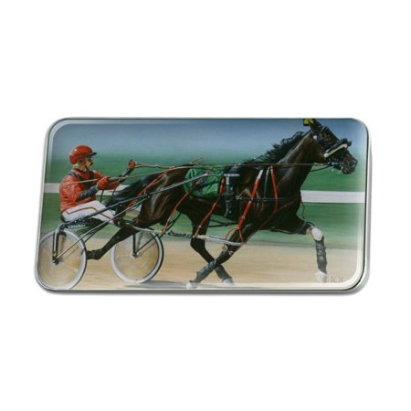 Harness Racing Horse Sulky Trotter Metal Rectangle Lapel Hat Pin Tie Tack Pinback -  Graphics and More