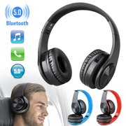 EEEKit Noise Cancelling Headphones, Wireless Bluetooth 5.0 Earphones, Over Ear HiFi Bass Stereo Headset, Foldable, Soft Memory-Protein Earmuffs, Built-in Mic, Wired Mode, for PC/Cell Phones/TV