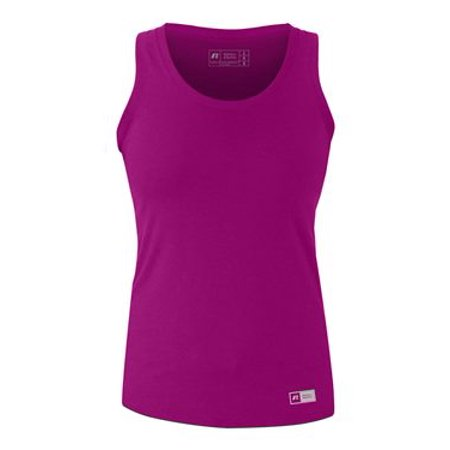 Russell Athletic Women's Essential Jersey Tank Top S Very Berry/ Oxford