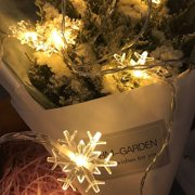 Snowflake LED String Fairy Lights Battery Operated Christmas Wedding Party Decoration Lamps