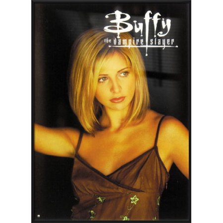 - Buffy The Vampire Slayer - Framed TV Show Poster / Print (Buffy / Sarah Michelle Gellar - Spaghetti Top) (Size: 27