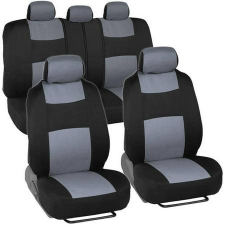 Bdk Polycloth Car Seat Covers 2 Tone Split Bench Easywrap