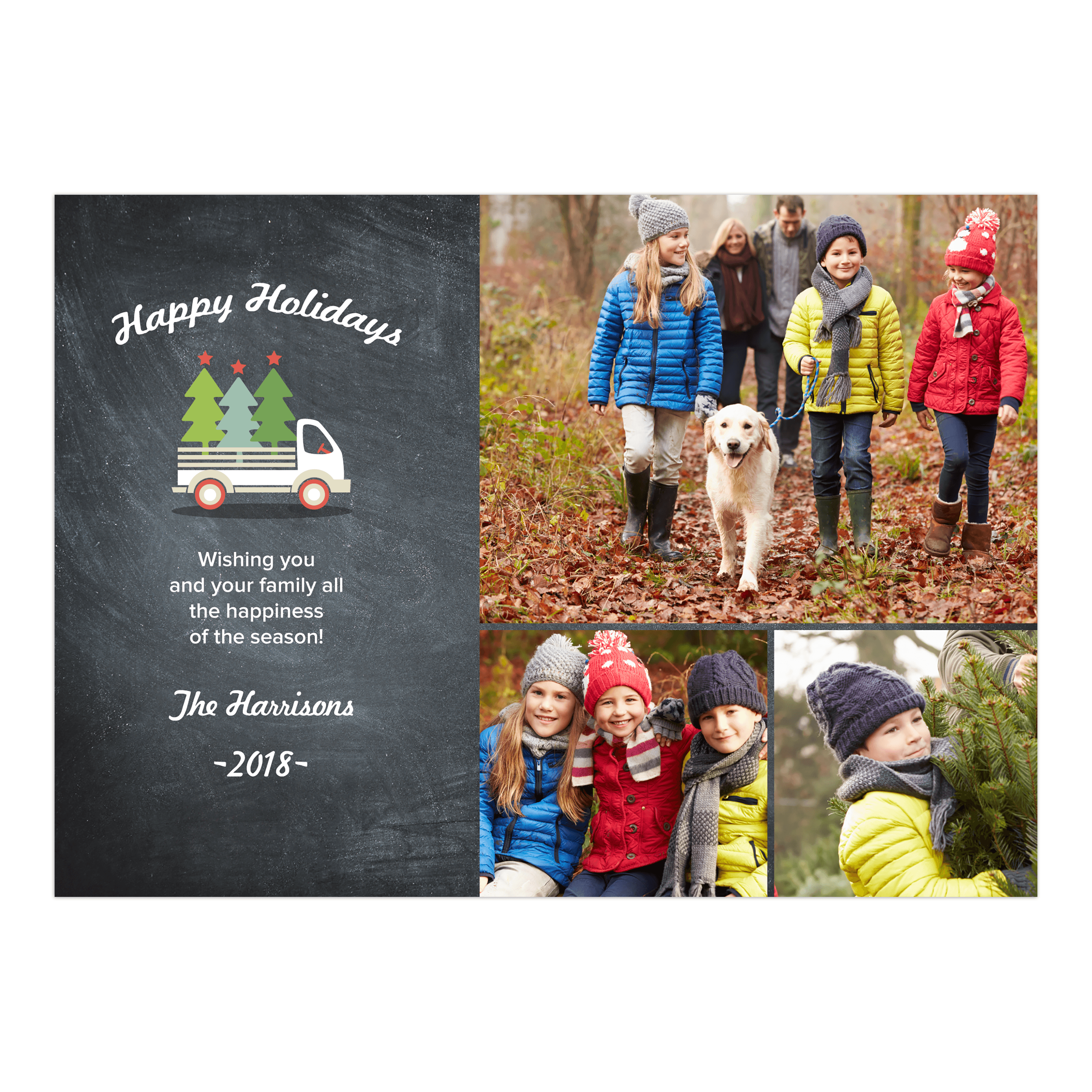 Truckful of Trees - 5x7 Personalized Holiday Card