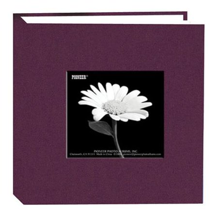 Fabric Frame Photo Album, Bright Fabric Covers, Holds 100 4x6