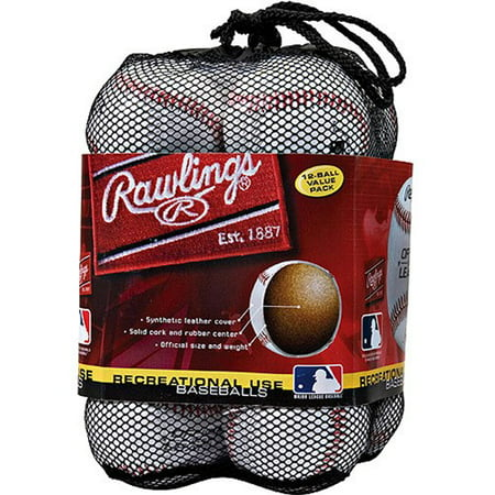 Rawlings Official League Recreational Use OLB3 Baseballs, 12