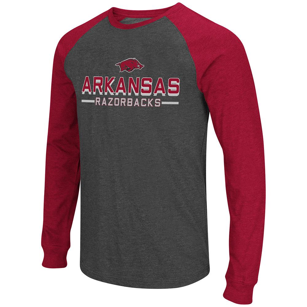 Mens NCAA Arkansas Razorbacks Olympus II Long Sleeve Tee Shirt
