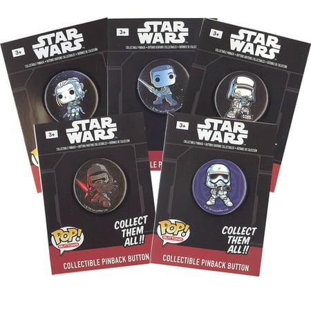 Funko Collectible Pinback Buttons - Star Wars Episode 7 - 5 Random Pins
