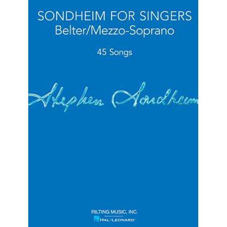 - Sondheim for Singers : Belter/Mezzo-Soprano