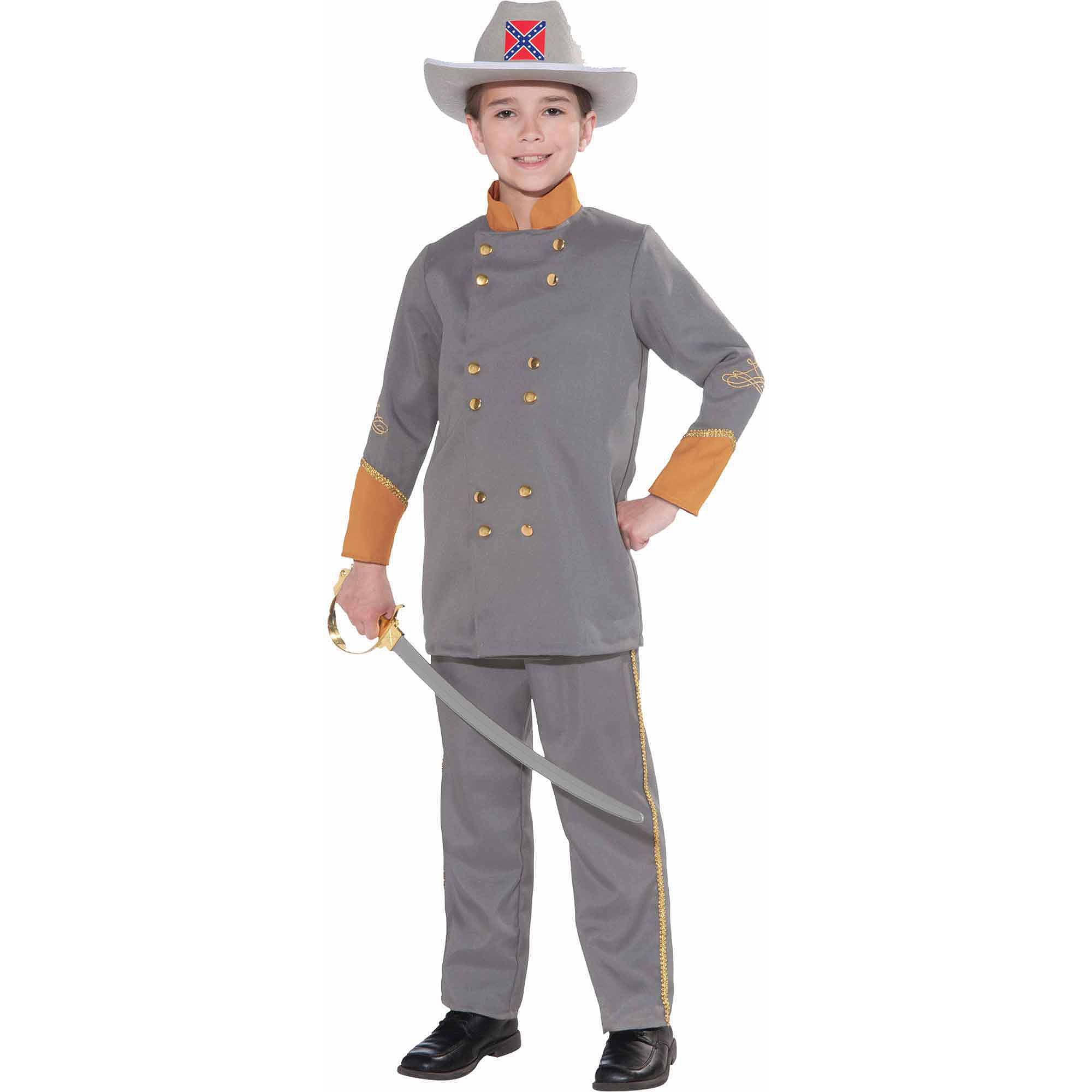 Confederate Officer Child Halloween Costume