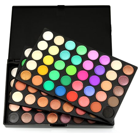 Zimtown Pro 120 Colors Eyeshadow Matte Shimmer Eye Shadow Palette Cosmetic Makeup Kit