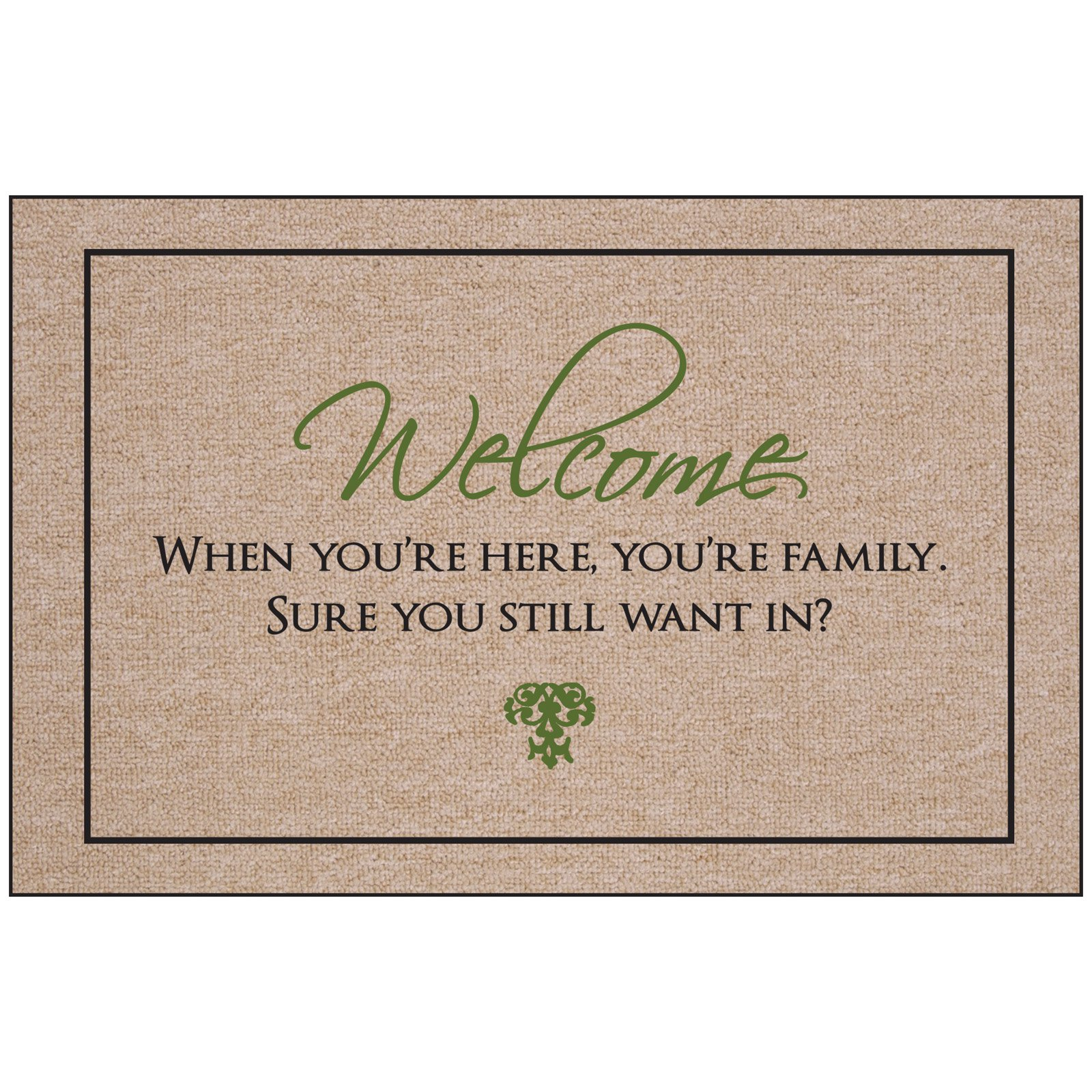 Welcome - You are Family Indoor/Outdoor Door Mat
