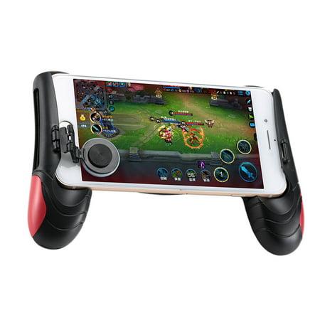 Game Controller Mobile Joystick Joypad Gamepad Ergonomic Design Handle Holder Grip Handgrip Stand Game Clutch (Red)