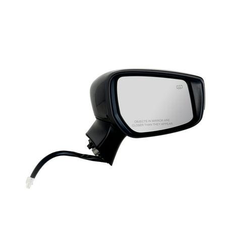 68635N - Fit System Passenger Side Mirror for 15-17 Nissan Versa Note Hatchback S, S Plus, SL, SV Model, textured black w/ PTM cover, CCD camera, foldaway, Passenger Side, Heated