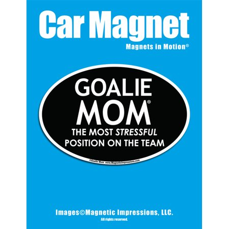 Goalie Mom Car Magnet - Sports Mom Gift - Lacrosse Hockey