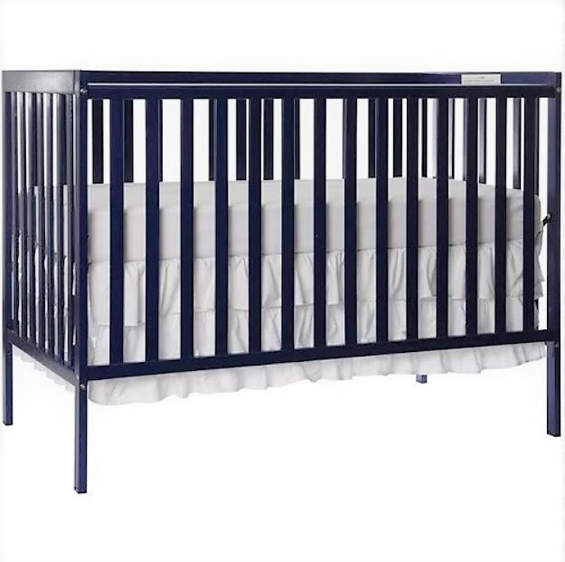 Dream On Me Synergy 5-in-1 Convertible Crib Royal Blue