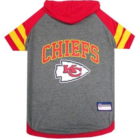 Pets First NFL Kansas City Chiefs Pet Hoodie Tee - City Pets