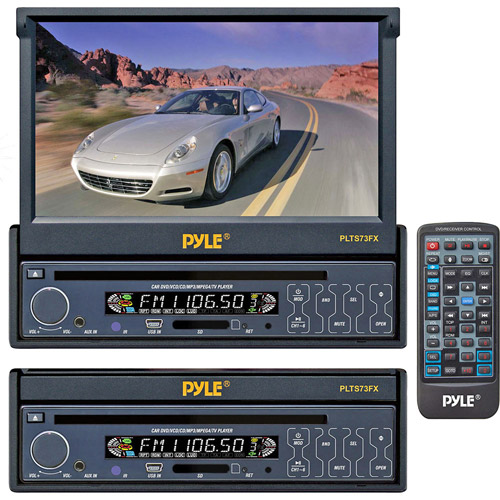 "Pyle 7"" In-Dash Motorized Touch-Screen LCD Monitor with DVD Player"