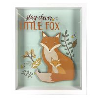 Stay Clever Little Fox Shadowbox With Raised Shape