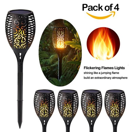2 10 pack 96 led solar power path torch light dancing flame