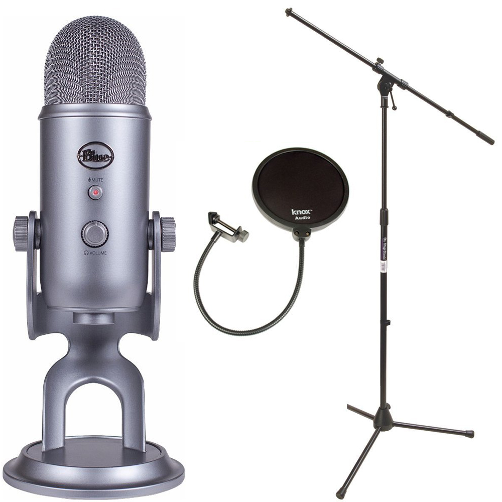 Blue Microphones Yeti USB Microphone with Mic Stand and Pop Filter for Broadcasting & Recording Microphones... by Blue Microphones