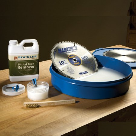 Router Bit And Saw Blade Cleaning Kit Jumbo Sized Blade Bath Features A Raised Inner Ring By Rockler Woodworking And Hardware Ship From Us