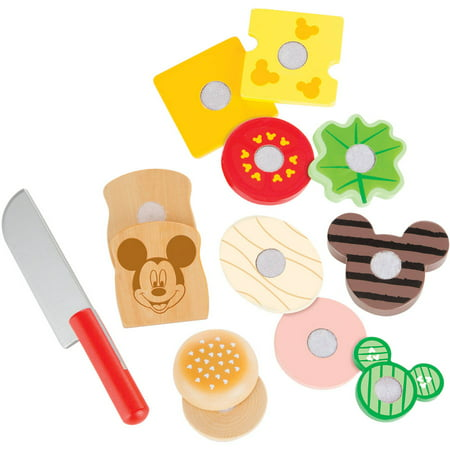 Melissa   Doug Disney Mickey Mouse Clubhouse Wooden Slice And Snack Sandwich Play Food Set