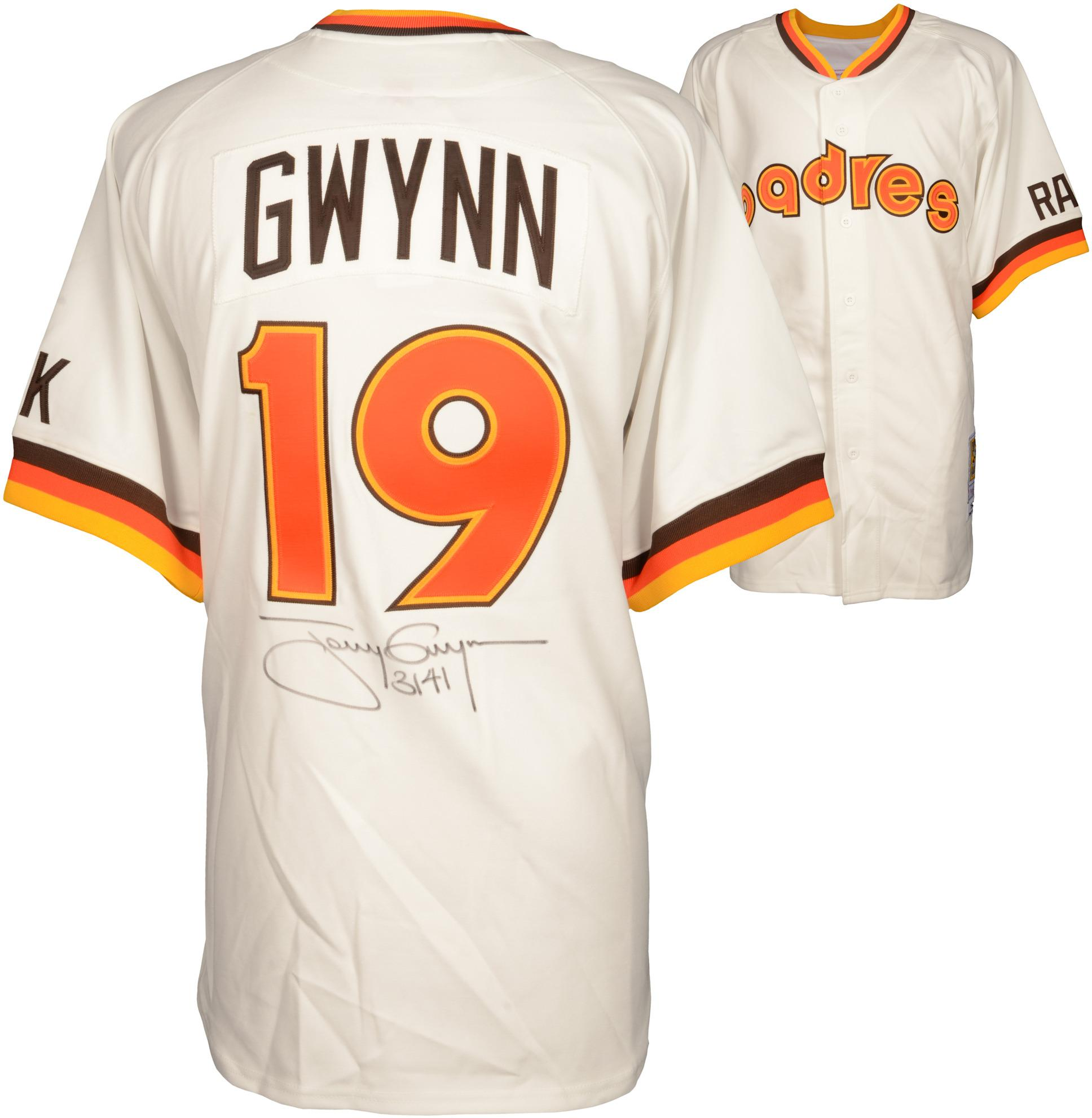 "Tony Gwynn San Diego Padres Autographed Mitchell & Ness Jersey with ""3141"" Inscription () - PSA/DNA Certified"