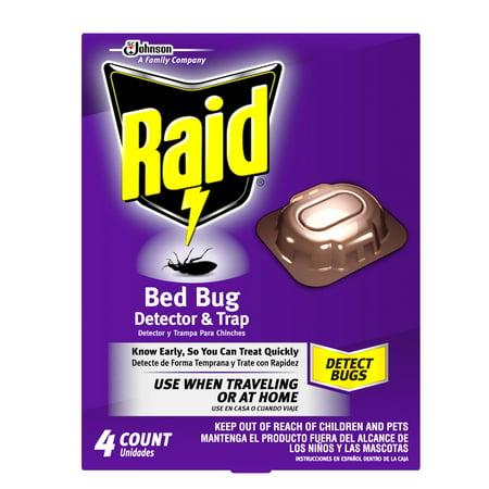 Raid Bed Bug Detector & Trap 4 count (Bed Bag)
