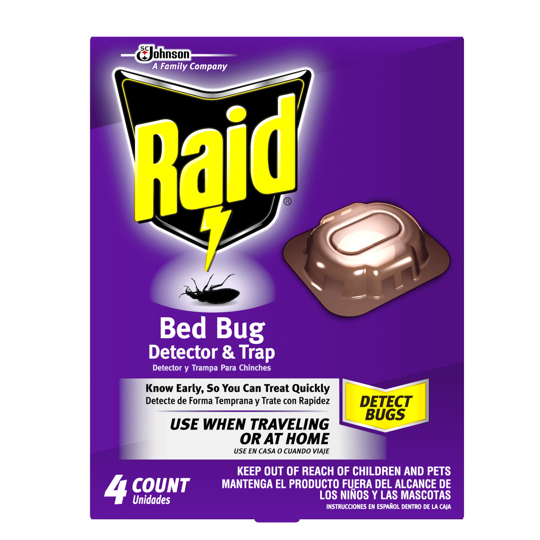 Raid Bed Bug Detector & Trap 4 count