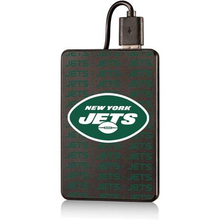 New York Jets Text Backed 2000 mAh Credit Card Powerbank - No Size