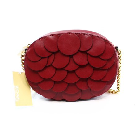 fe66bf3d1841 Michael Kors - Michael Kors NEW Red Cherry Ginny Medium Sequin Crossbody  Handbag - Walmart.com