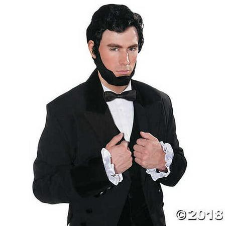 Abraham Lincoln Wig & Beard Costume (Lincoln Beard)