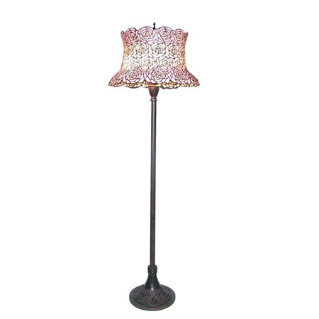 - Meyda Tiffany 72160 Three Light Up Lighting Floor Lamp from the Blooming Rose Field Collection