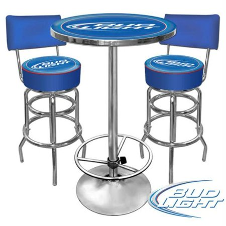 Ultimate Bud Light Gameroom Combo - 2 Bar Stools And Table - Ultimate Bud Light Gameroom Combo - 2 Bar Stools And Table