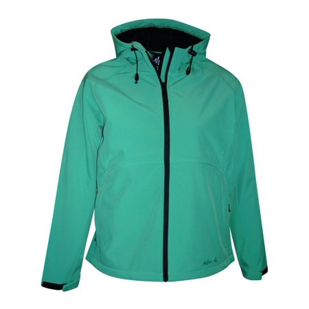 1e77401e08bc3 Pulse - Pulse Womens Extended and Plus Size Soft Shell Hooded Jacket 1X-6X  - Walmart.com