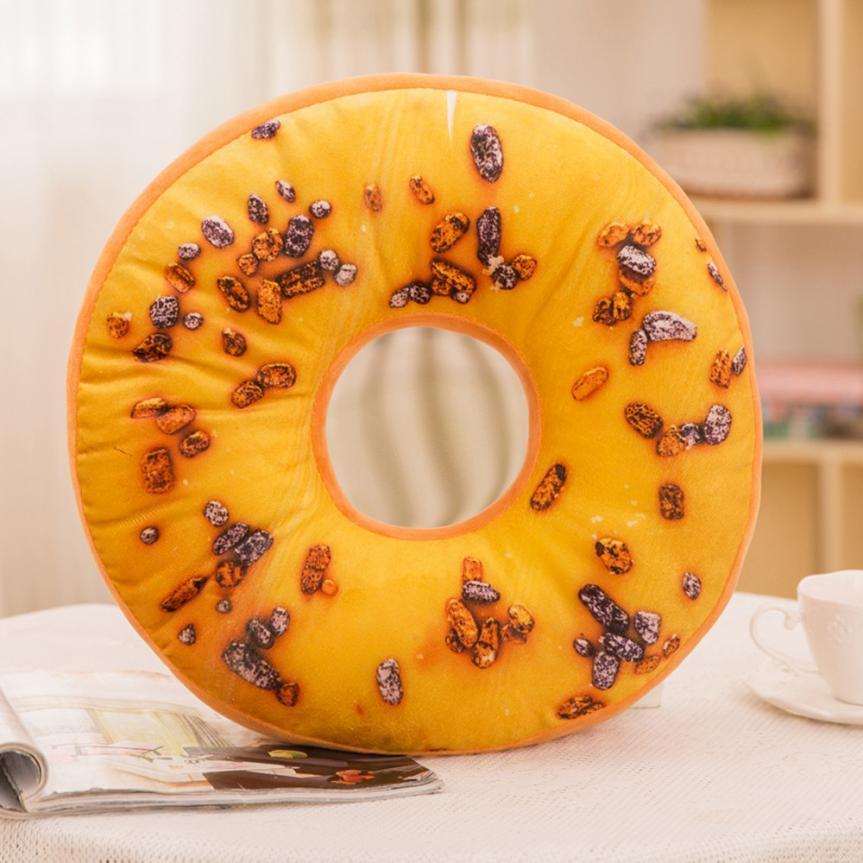 【lncdis】soft Plush Pillow Stuffed Seat Pad Sweet Donut