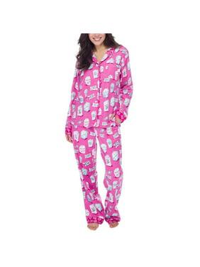 Munki Munki Women 2-Piece PJ Flannel Pajama Sleep Set