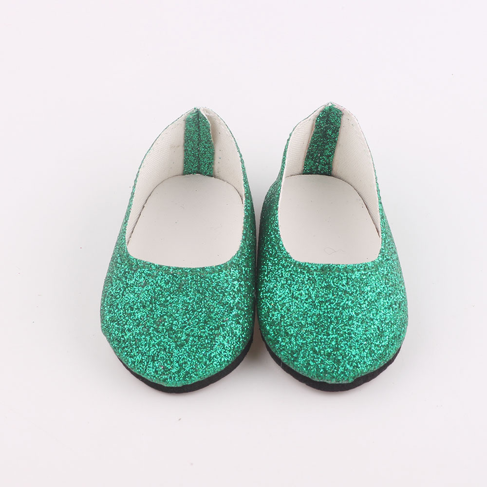 New Amusing Glitter Doll Shoes Dress Shoe ACCY For 18 inch Our Generation American Girl Doll