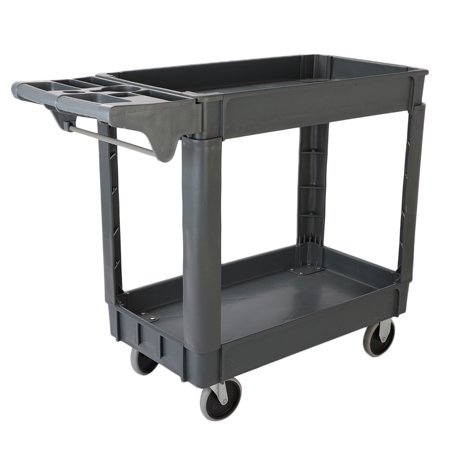 Standard Capacity Print Cart (Zimtown 2 Layers 18 in. x 30 in. Standard Plastic Service Cart)