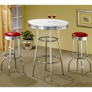 A Line Furniture Haverstraw Nostalgic Retro Chrome Bar Set